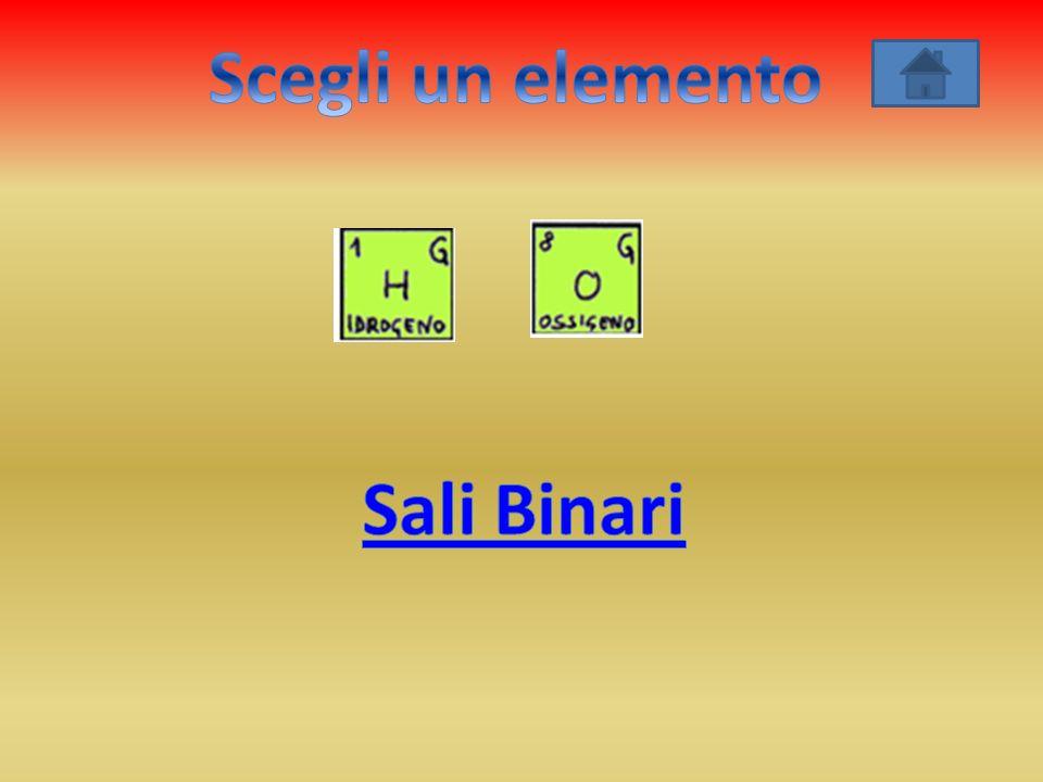 Scegli un elemento Sali Binari