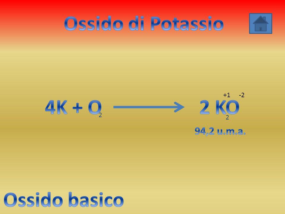 Ossido di Potassio 4K + O 2 KO Ossido basico