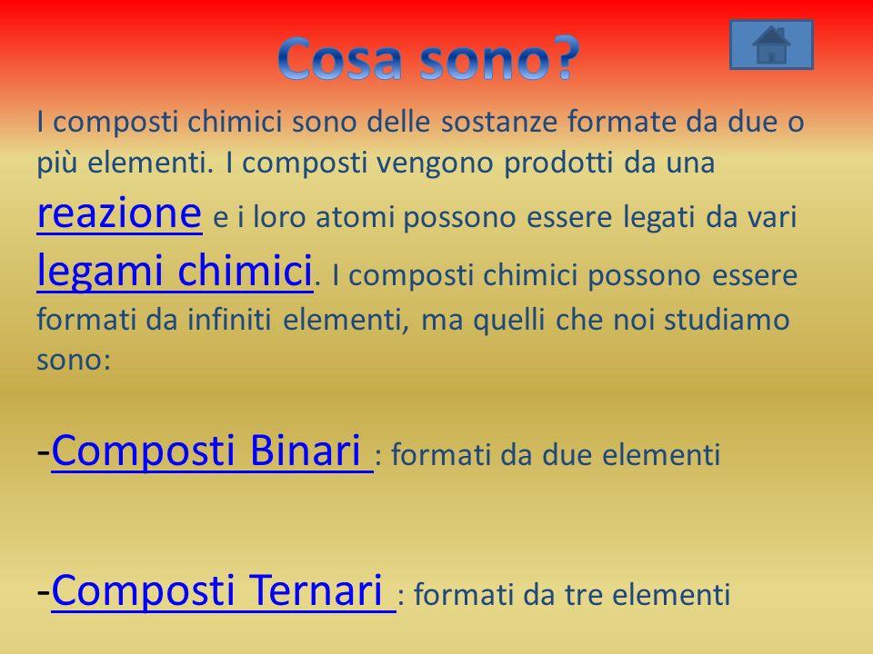 Cosa sono Composti Binari : formati da due elementi