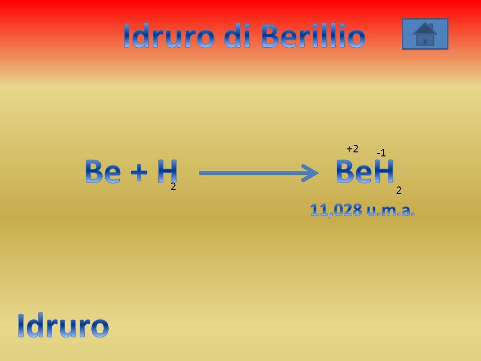 Idruro di Berillio Be + H BeH Idruro