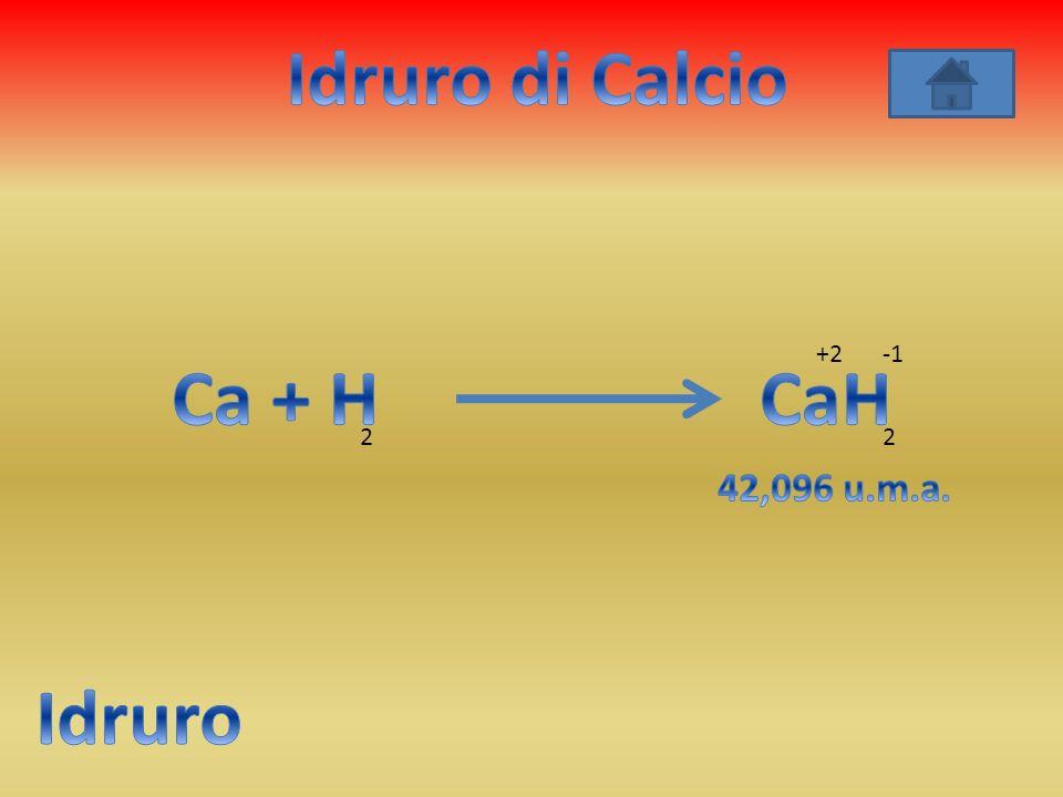 Idruro di Calcio Ca + H CaH Idruro