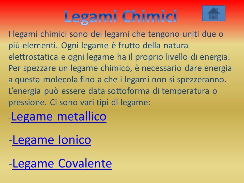 Legami Chimici Legame Ionico -Legame Covalente