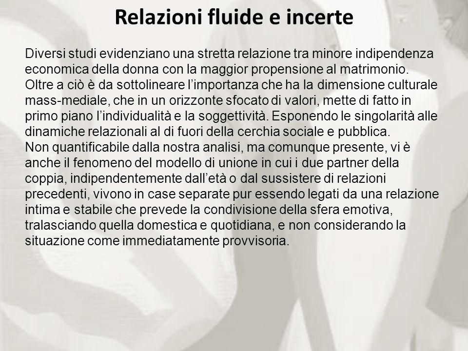 Relazioni fluide e incerte