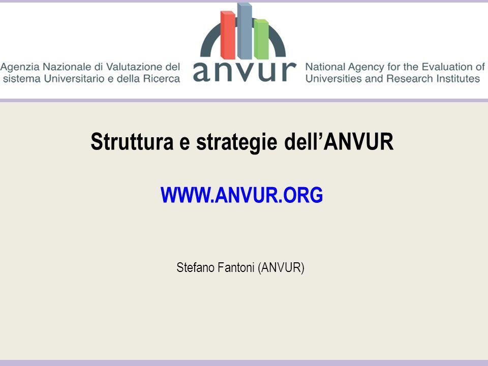 Struttura e strategie dell'ANVUR WWW.ANVUR.ORG