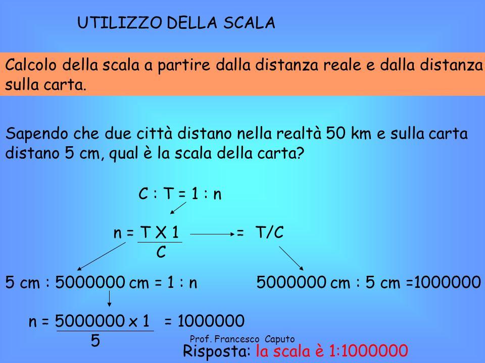 Calcolo della scala a partire dalla distanza reale e dalla distanza