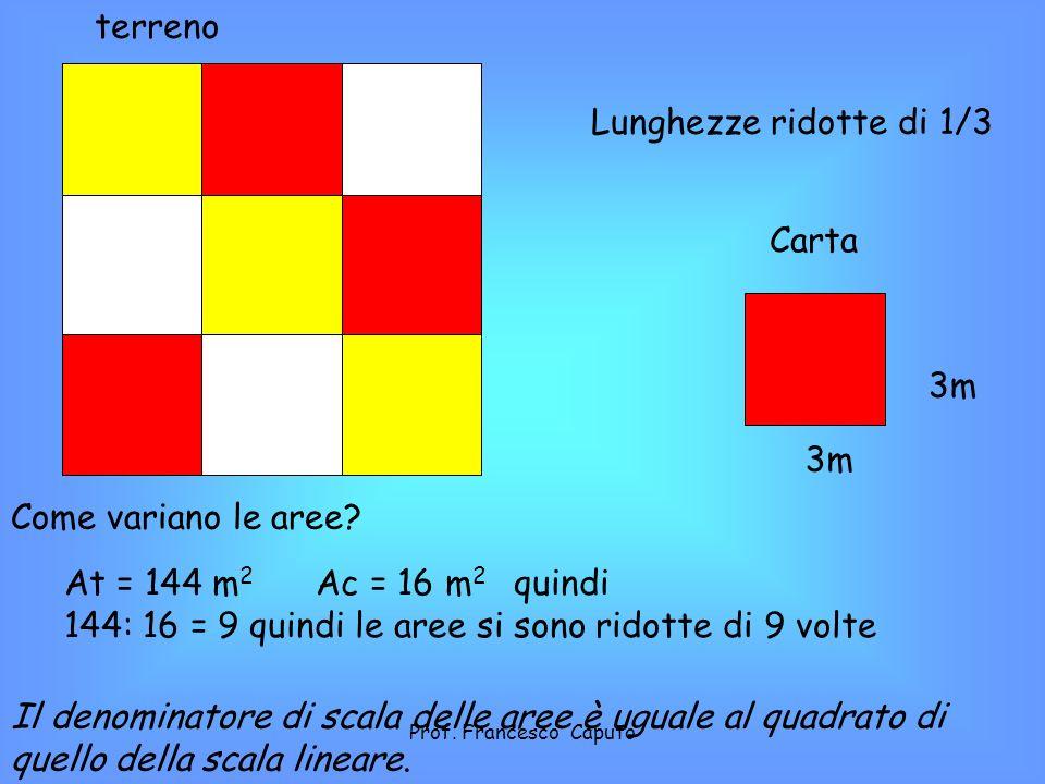 144: 16 = 9 quindi le aree si sono ridotte di 9 volte