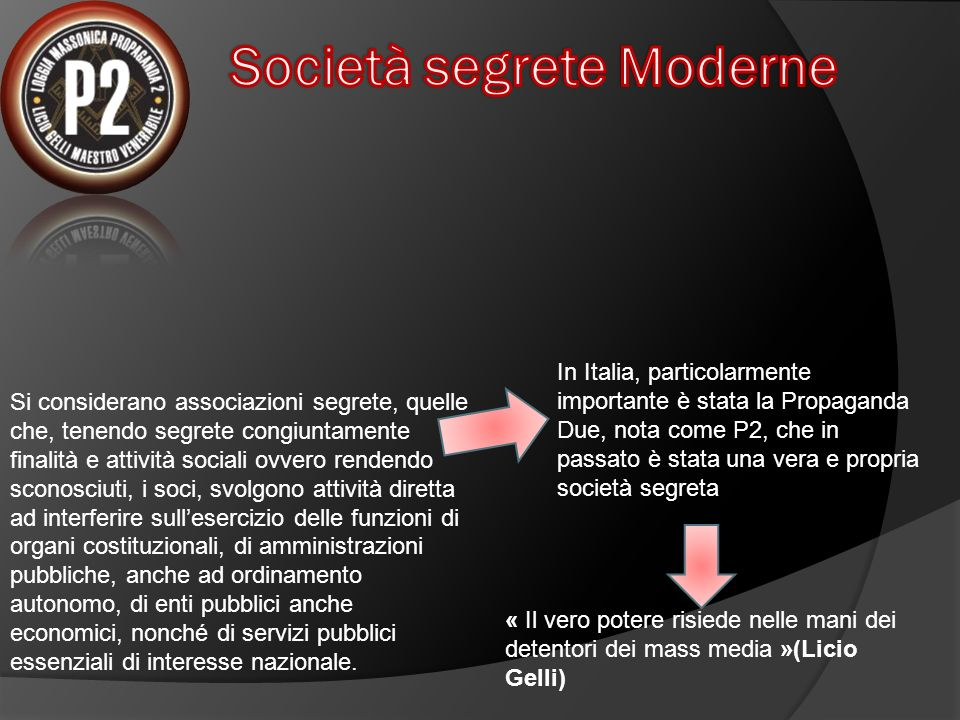 Società segrete Moderne