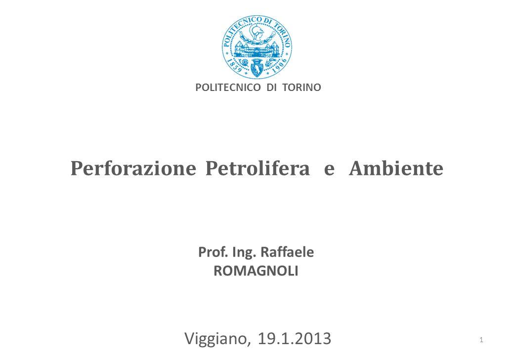 Perforazione Petrolifera e Ambiente