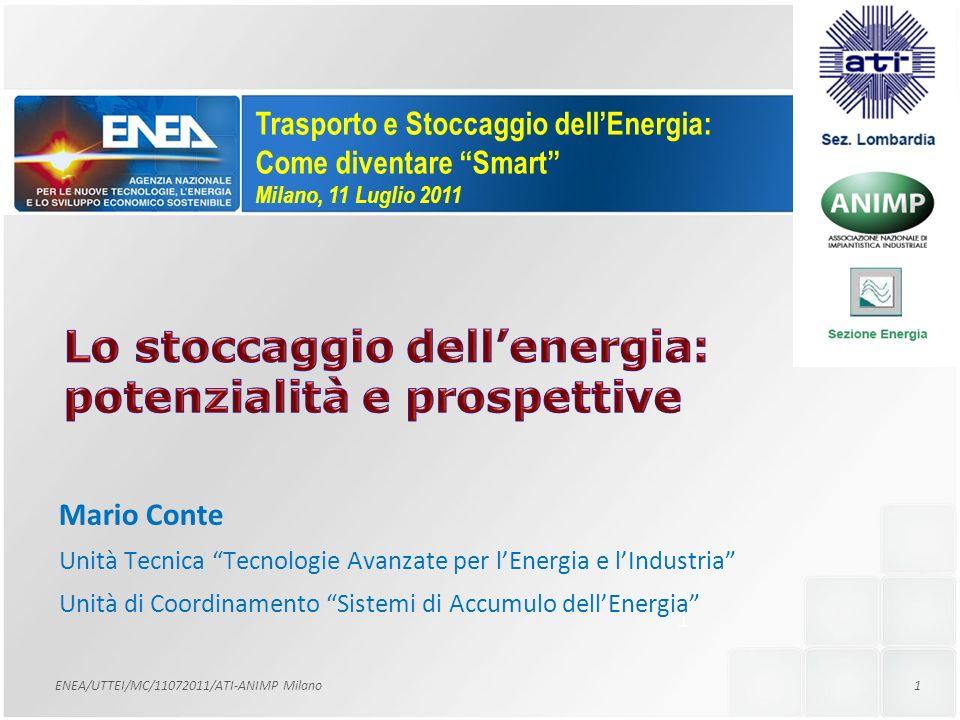 Lo stoccaggio dell'energia: potenzialità e prospettive