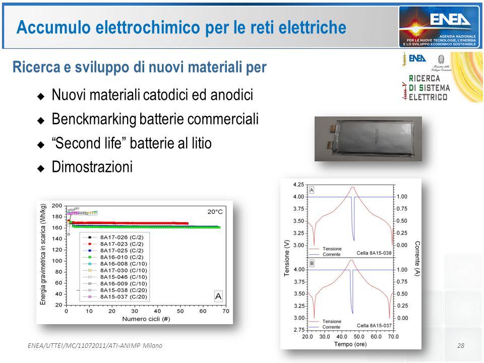 Accumulo elettrochimico per le reti elettriche