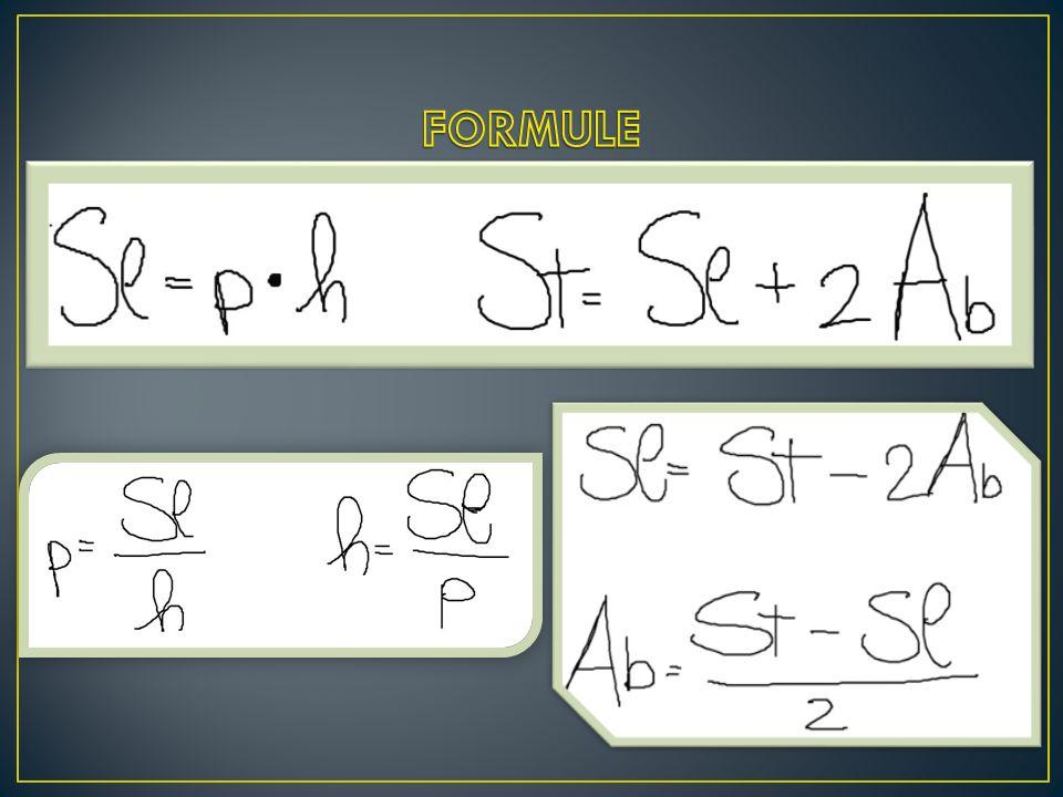 FORMULE Sl = p.h St = Sl + 2Ab