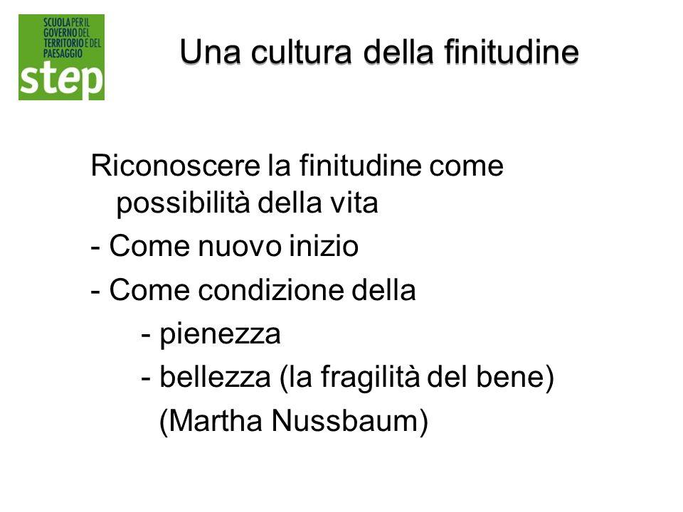 Una cultura della finitudine