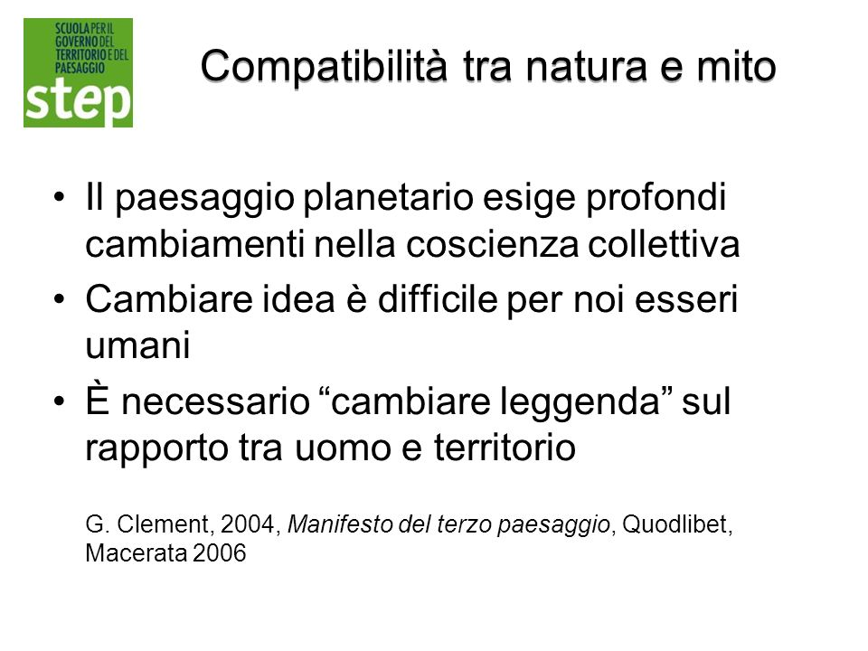 Compatibilità tra natura e mito