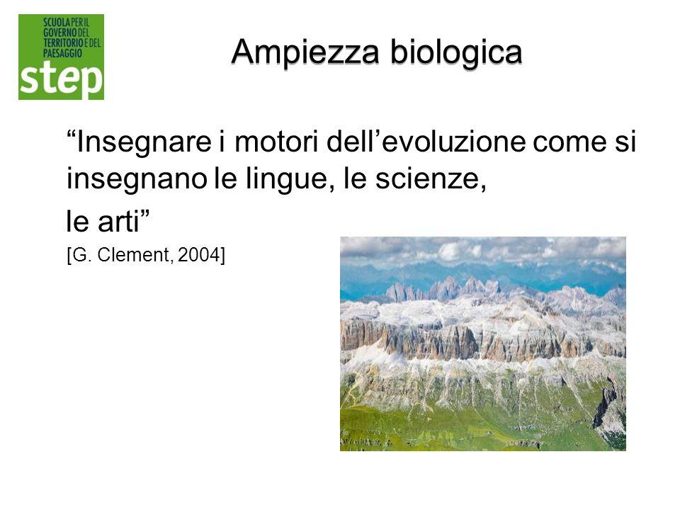 Ampiezza biologica Insegnare i motori dell'evoluzione come si insegnano le lingue, le scienze, le arti