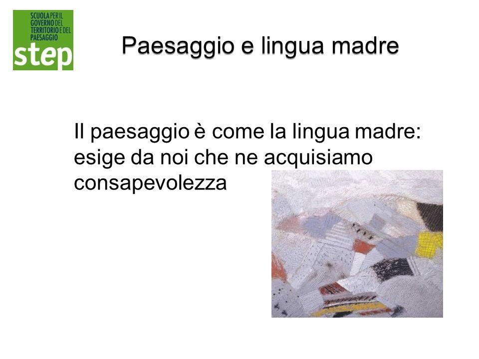Paesaggio e lingua madre