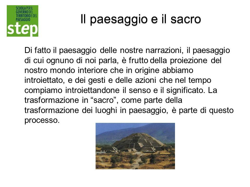 Il paesaggio e il sacro
