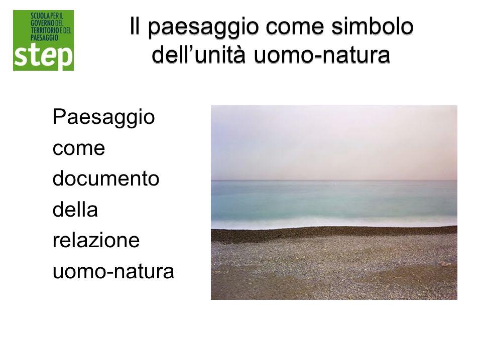Il paesaggio come simbolo dell'unità uomo-natura