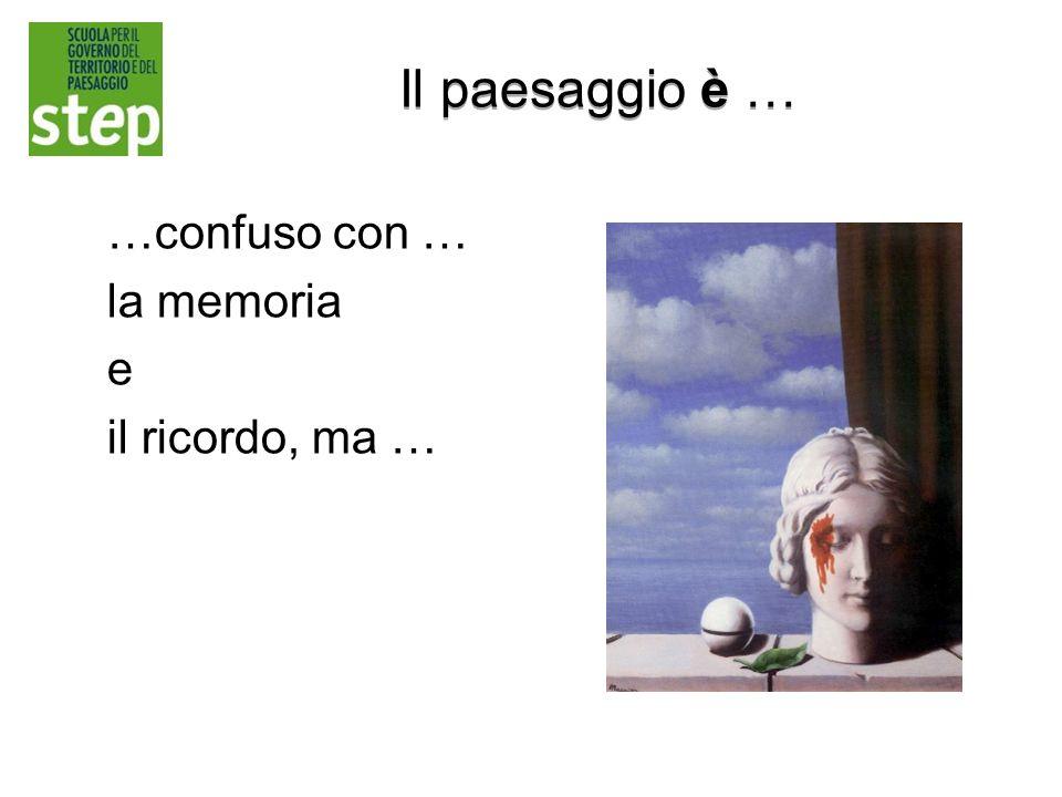 Il paesaggio è … …confuso con … la memoria e il ricordo, ma …