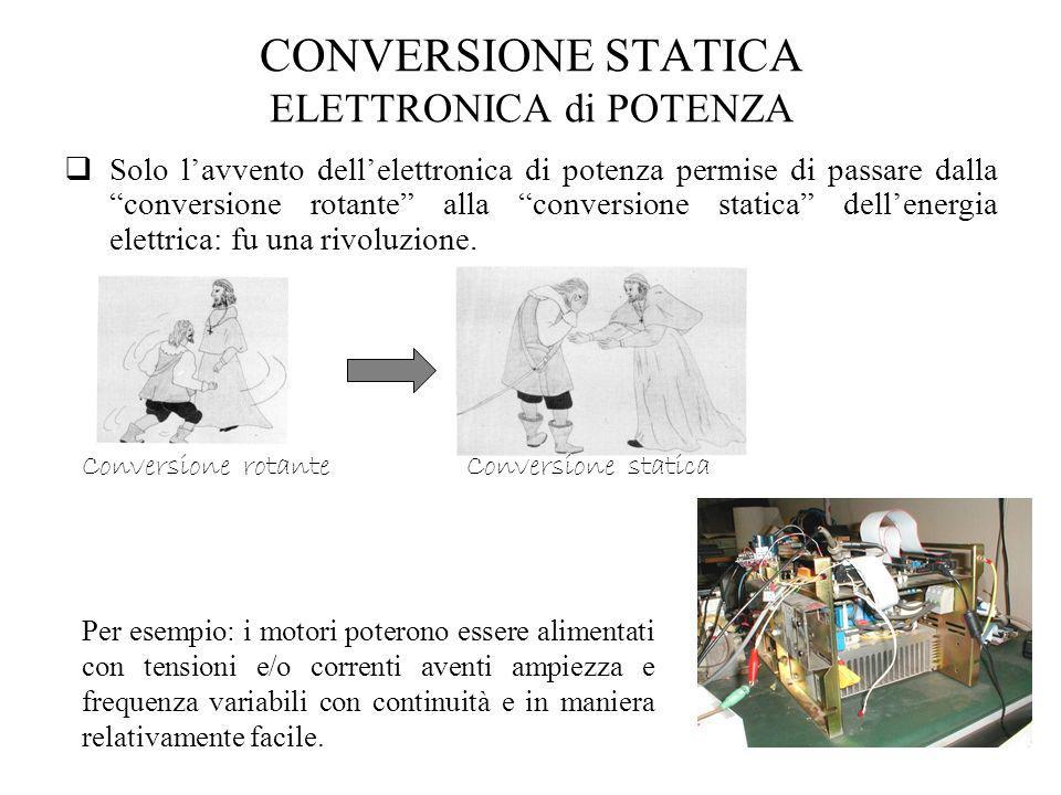 CONVERSIONE STATICA ELETTRONICA di POTENZA