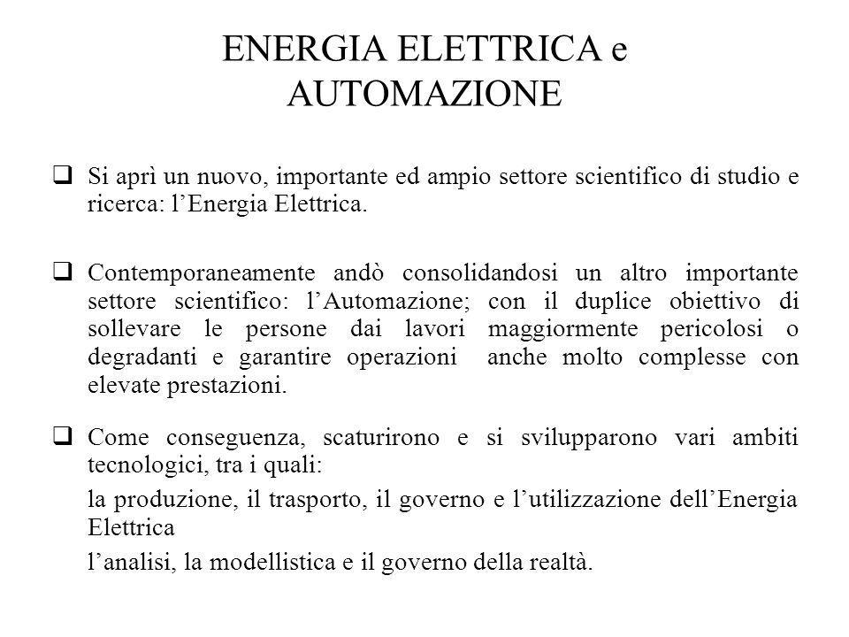 ENERGIA ELETTRICA e AUTOMAZIONE