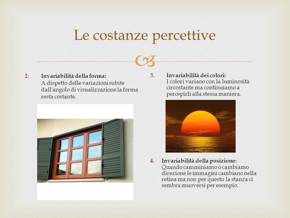Le costanze percettive