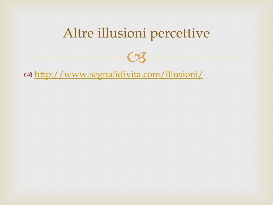 Altre illusioni percettive