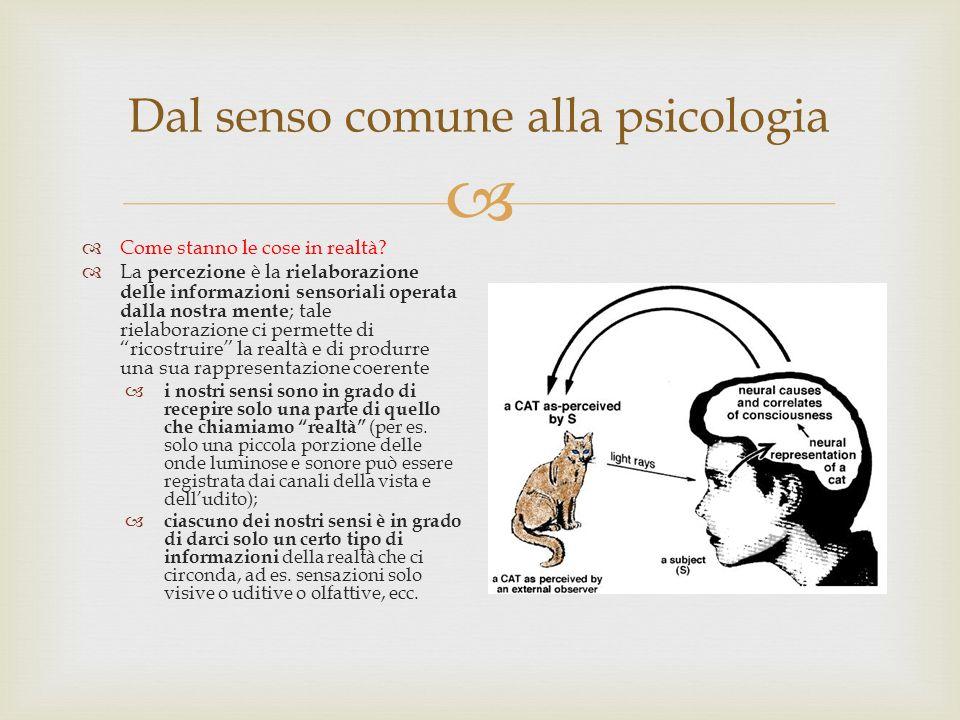 Dal senso comune alla psicologia