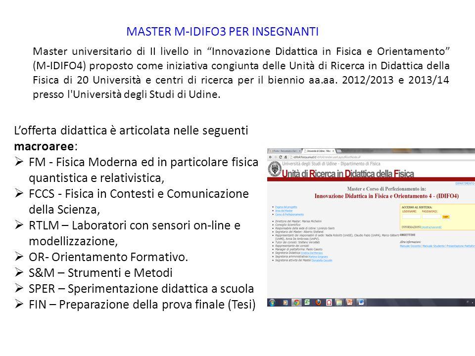 MASTER M-IDIFO3 PER INSEGNANTI