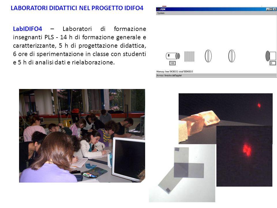 LABORATORI DIDATTICI NEL PROGETTO IDIFO4