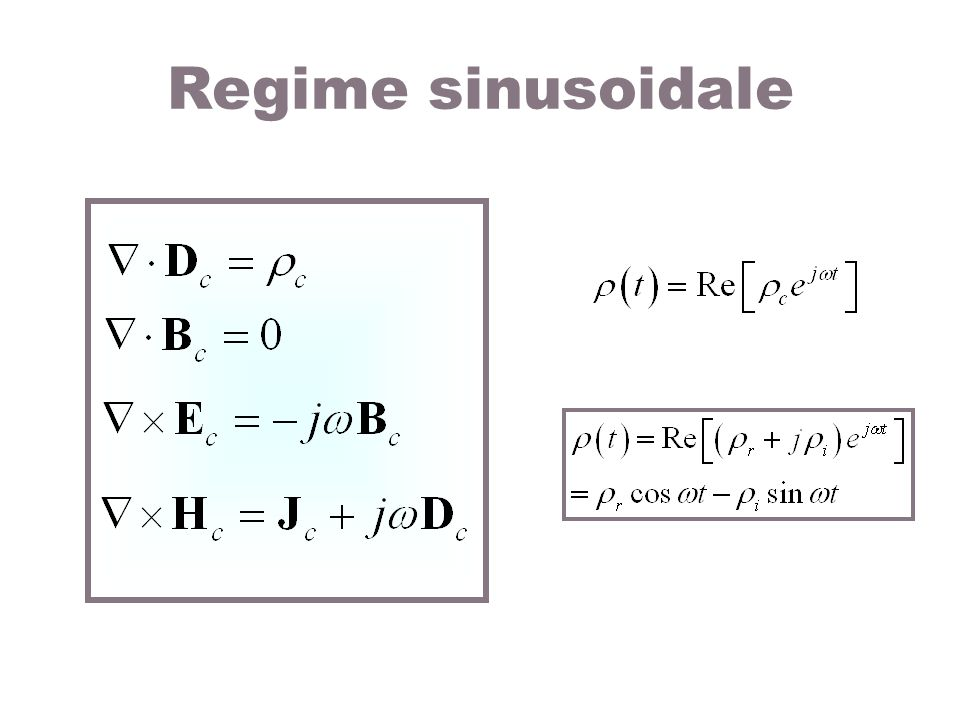 Regime sinusoidale