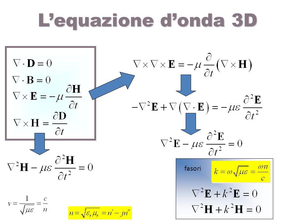 L'equazione d'onda 3D fasori
