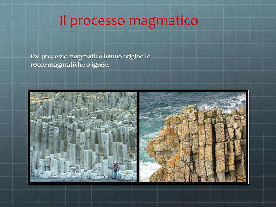 Il processo magmatico Dal processo magmatico hanno origine le rocce magmatiche o ignee.