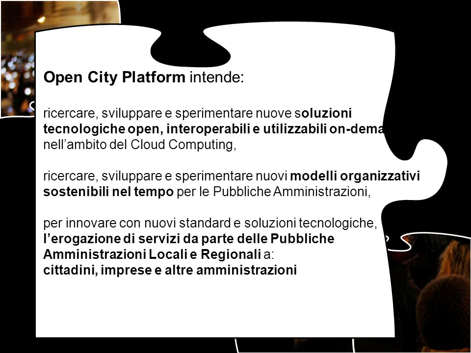 Open City Platform intende: