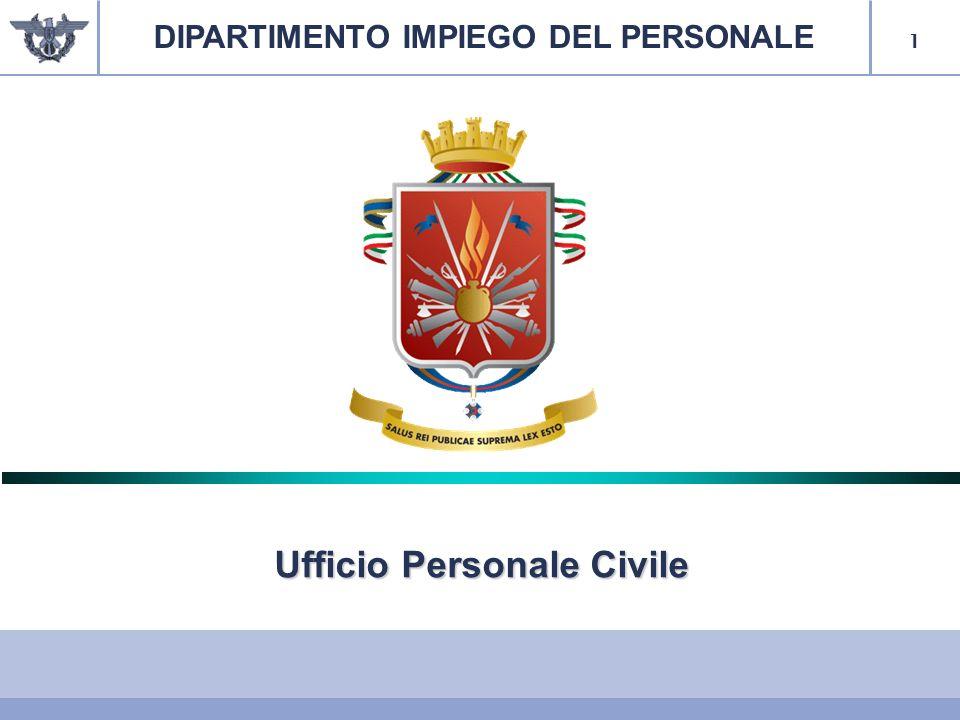 DIPARTIMENTO IMPIEGO DEL PERSONALE Ufficio Personale Civile