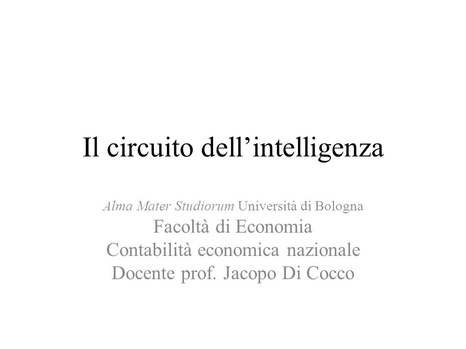 Il circuito dell'intelligenza