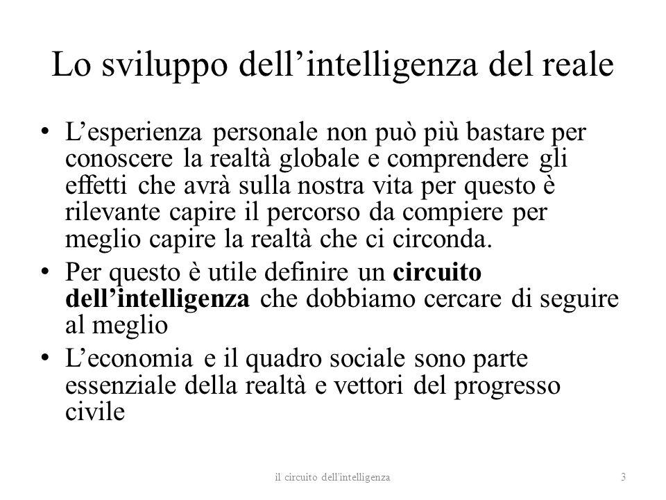 Lo sviluppo dell'intelligenza del reale