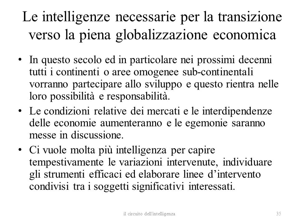 il circuito dell intelligenza