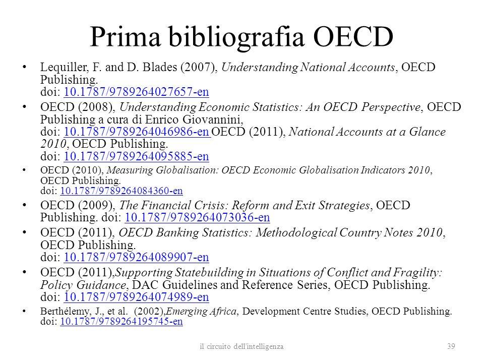 Prima bibliografia OECD
