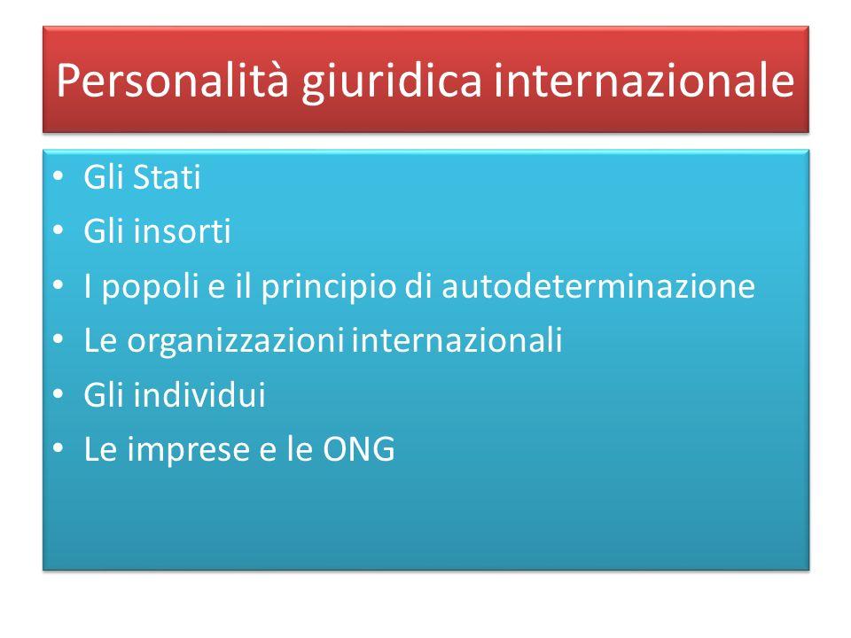 Personalità giuridica internazionale