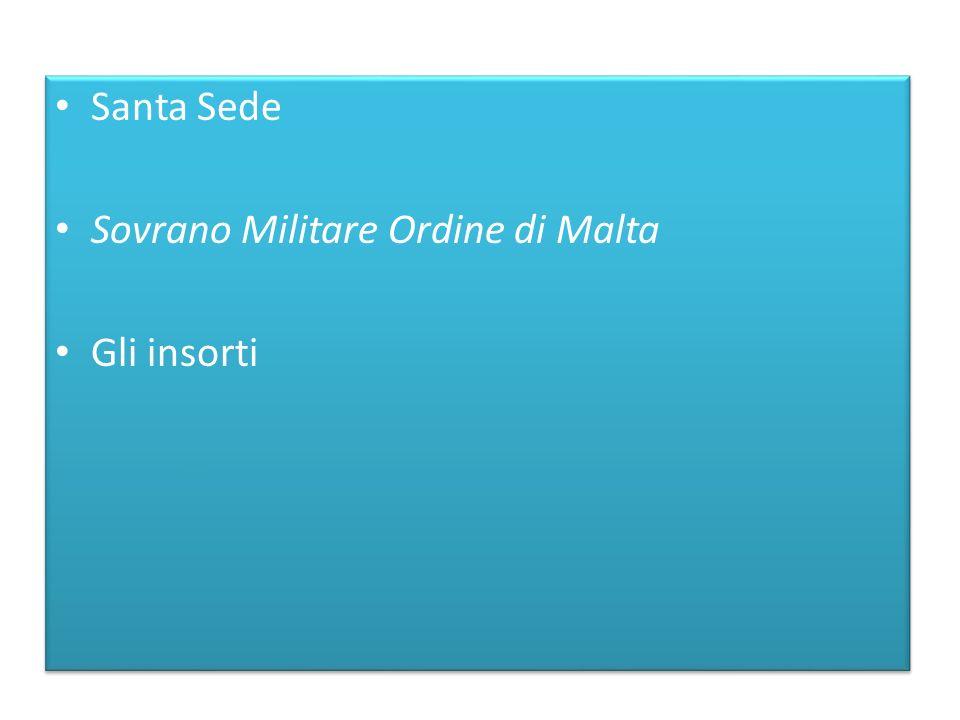 Santa Sede Sovrano Militare Ordine di Malta Gli insorti