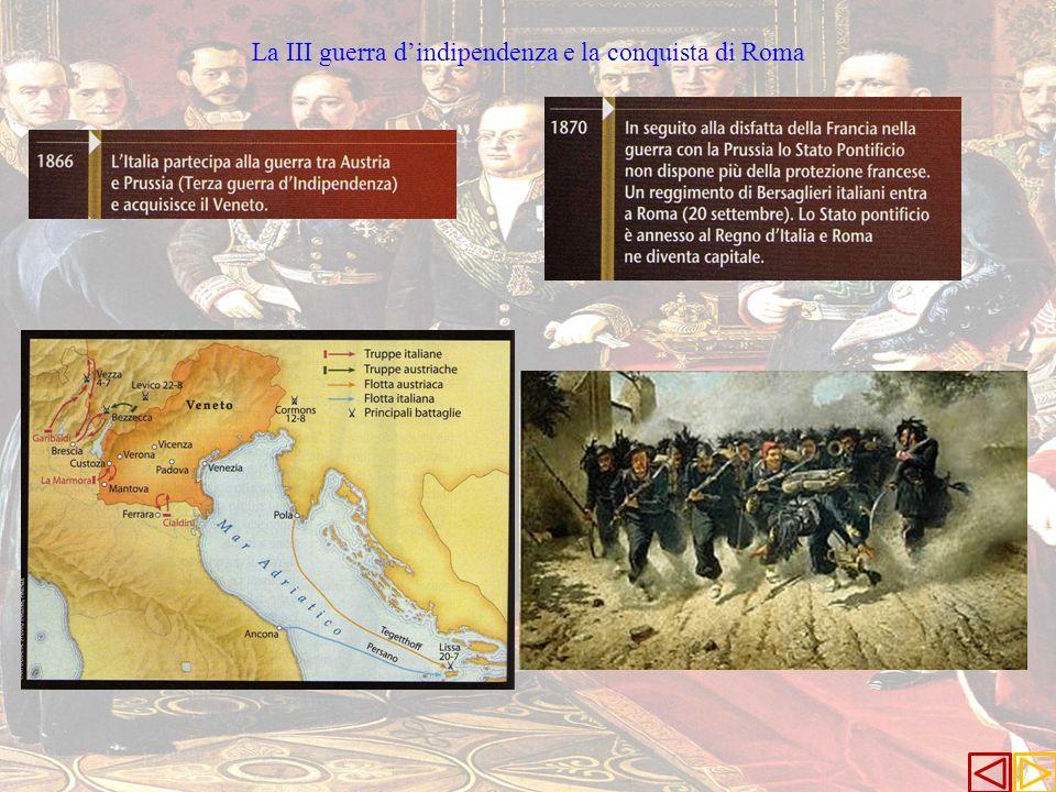 La III guerra d'indipendenza e la conquista di Roma