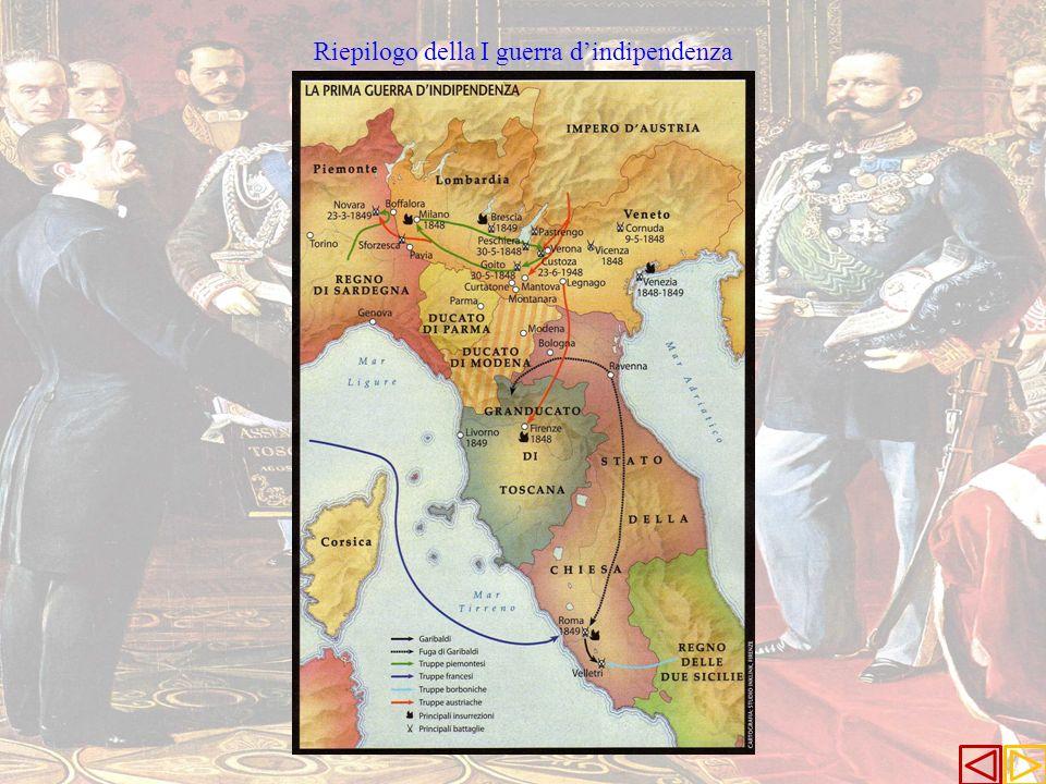 Riepilogo della I guerra d'indipendenza