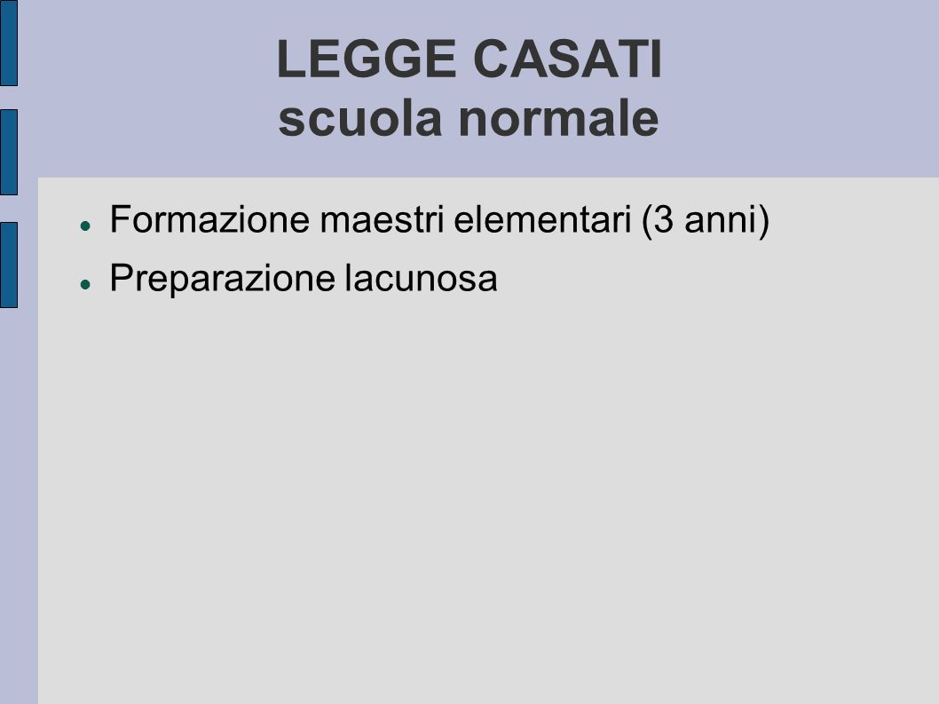 LEGGE CASATI scuola normale