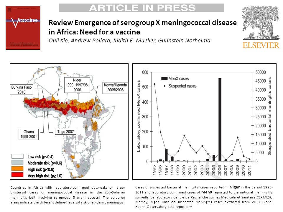 Review Emergence of serogroup X meningococcal disease in Africa: Need for a vaccine