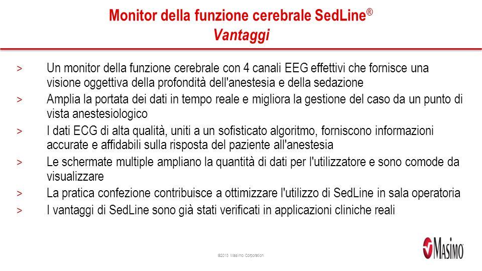 Monitor della funzione cerebrale SedLine® Vantaggi