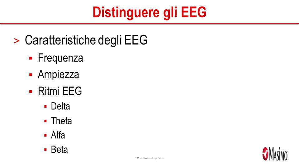 Distinguere gli EEG Caratteristiche degli EEG Frequenza Ampiezza