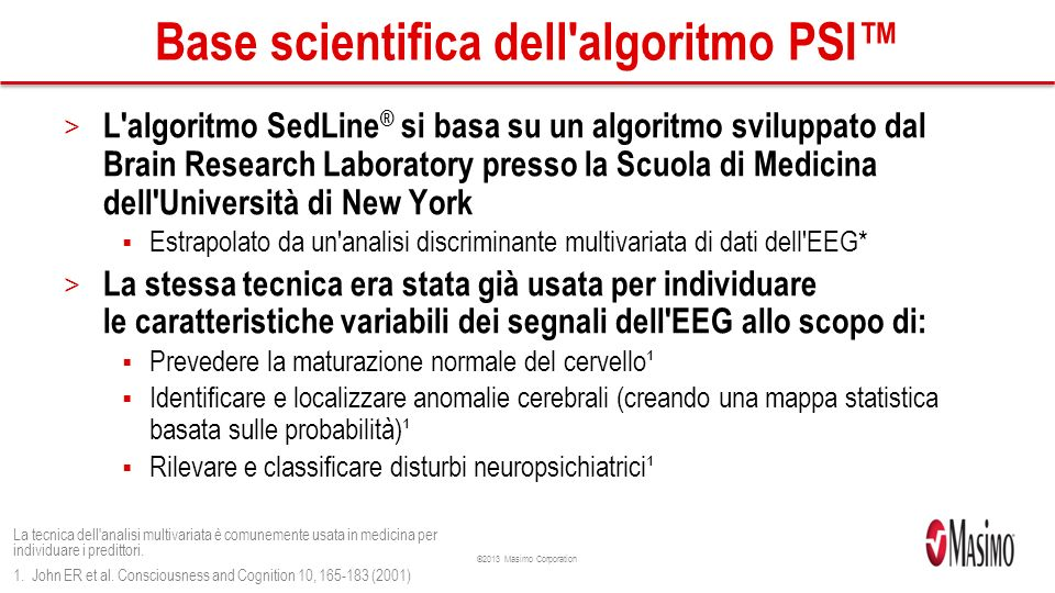 Base scientifica dell algoritmo PSI™
