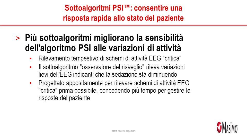 Sottoalgoritmi PSI™: consentire una risposta rapida allo stato del paziente