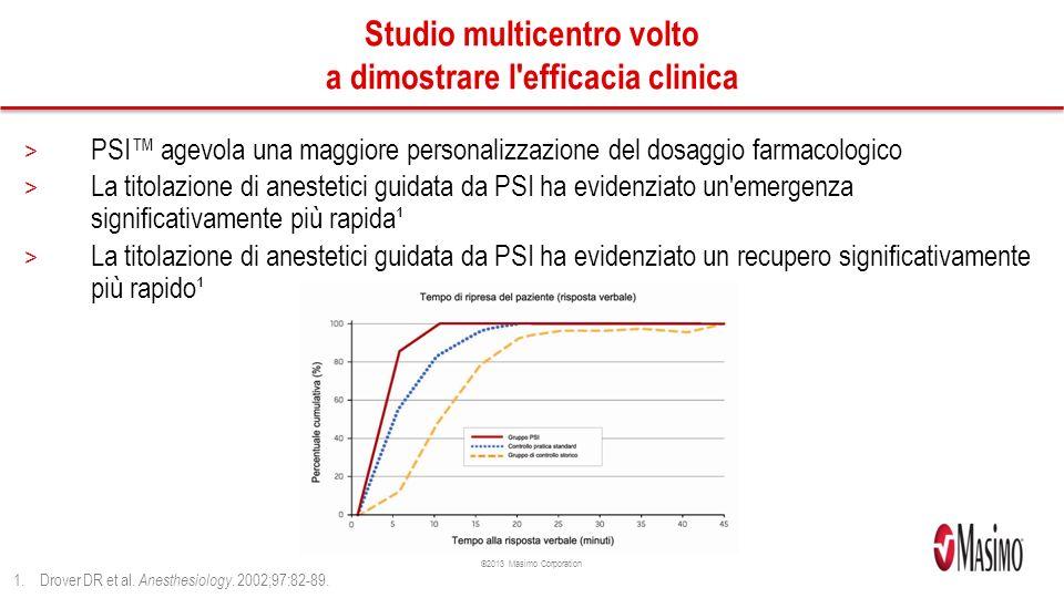 Studio multicentro volto a dimostrare l efficacia clinica