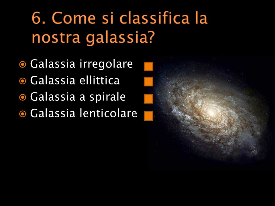 6. Come si classifica la nostra galassia